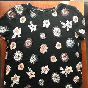 Loft black and floral top
